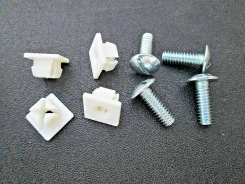 "License Plate Screws Nylon Nuts 2-Pair Car Dealers 1//4-20 X 3//4/"" 9//16/"" Head Dia"
