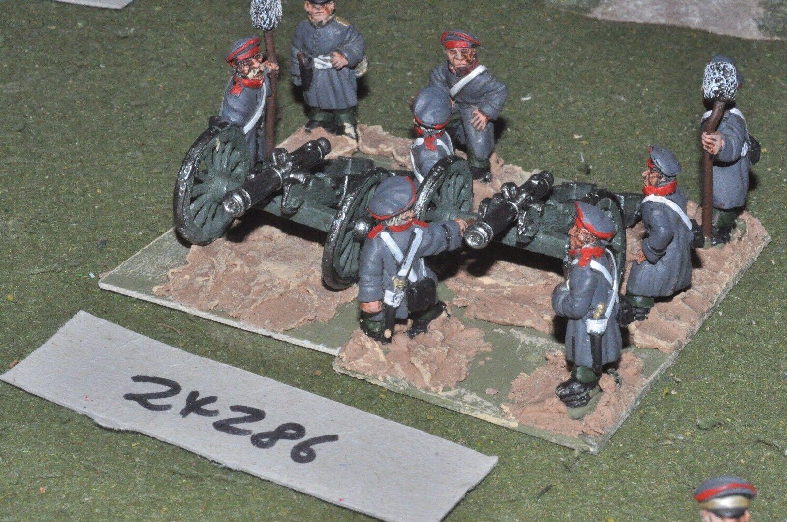 28mm 19th century   russian - 2 guns & crews crimean - art (24286)
