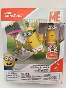 Mega-Construx-Despicable-Me-Minion-Mailbox-Mischief-Building-Set-22Pcs-DYD34-New