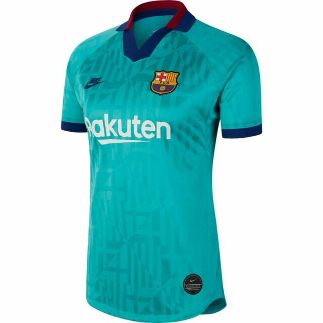 Nike Fc Barcelona Third Kit Jersey 2019 20 Retro Green Navy Stadium Size Xl Only For Sale Online Ebay