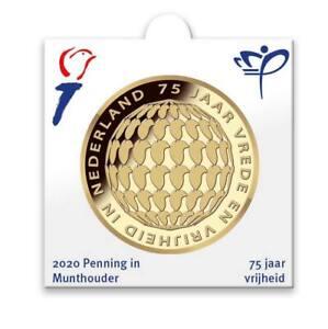 Holland Coin Fair penning in munthouder 2020 75 Jaar vrijheid, bevrijding NL BU