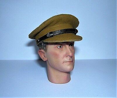 Banjoman échelle 1:6 custom WW2 British FIELD SERVICE CAP-Light Khaki