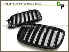 M Style Gloss Black Front Hood Grille Grill BMW E70 E71 Model X5 X6 SUV 07-13