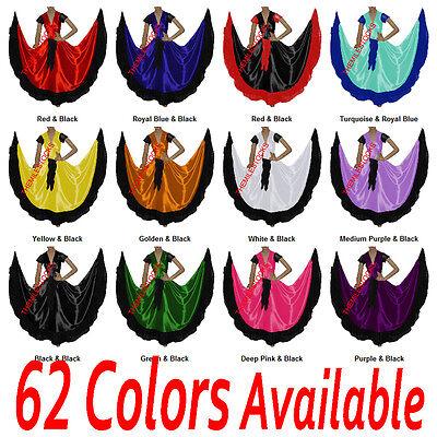 TMS Designer Ruffle Skirt + Top Set Belly Dance Costume Tribal Gypsy Flamenco