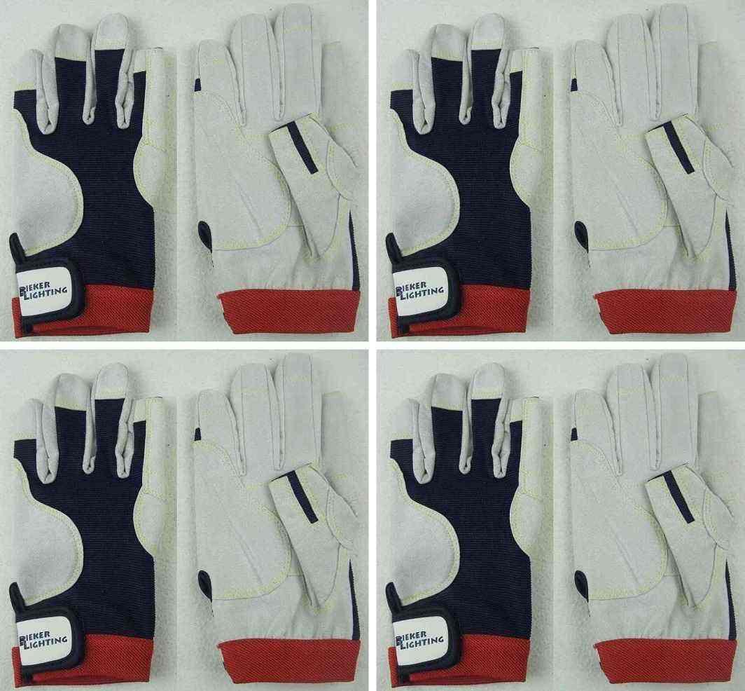 4 x AMARA PRO Arbeitshandschuhe Gr. XL (10) Drummer Handschuhe Rigginghandschuhe