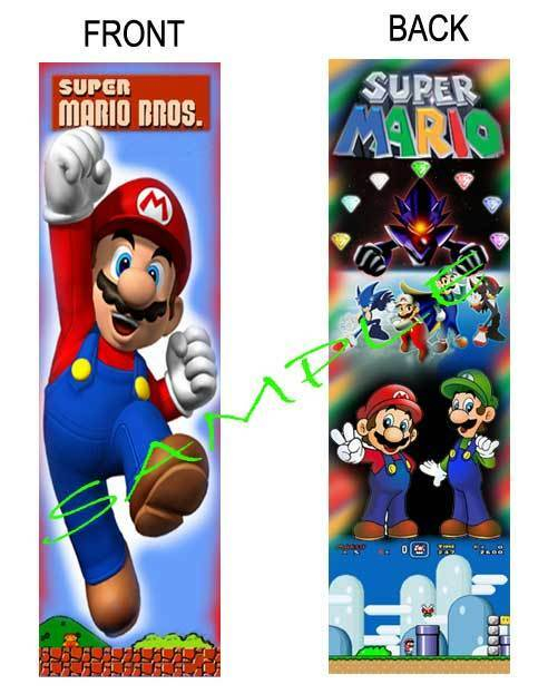 Super Mario Brothers Bookmark Double Sided Laminated - Fun for Kids to Read  With
