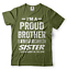 miniature 15 - Gift For Brother Funny Birthday Gift For Brother Proud Brother Funny T shirt