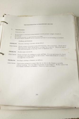 Diamond P7-13  Envelope Press Operations and Parts Manual