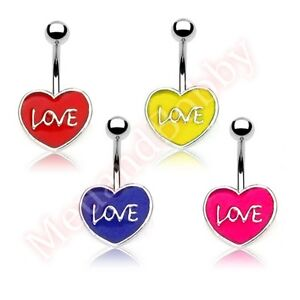 Love-Heart-Belly-Button-Bar-Navel-Ring-Barbell-Body-Piercing-Jewellery