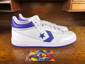 0658e5871be86d Converse Fastbreak 83 Mens Mid Top White Purple Basketball Shoes ...