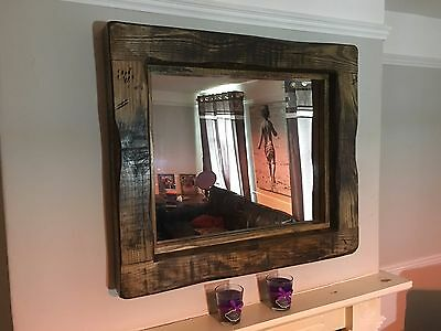 Mirror Large Rustic Reclaimed Wood, Wood Rustic Mirror