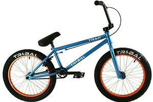 Tribal Trap BMX Bike Metallic sky blue with orange rims