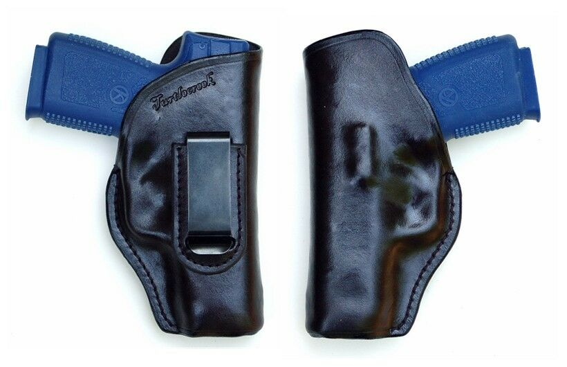 Turtlecreek Leder IWB Holster CW9 for Kahr CW9 Holster - Right Hand Patter with Fixed Clip f4e88a
