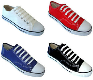 New-Men-039-s-Canvas-Sneakers-Classic-Lace-Up-Fashion-Casual-Shoes-Colors-Size-7-13