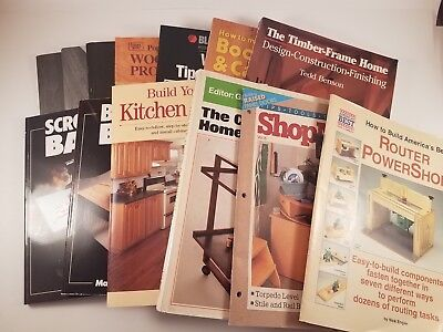 Lot Of 8 Woodworking Books And 5 Magazines Woodworking Projects Instruction Ebay