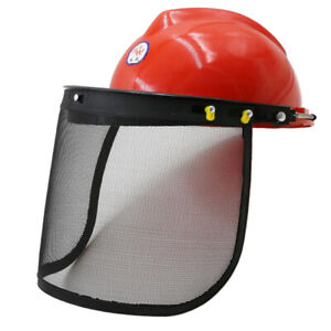 Chainsaw Face Shield Head Protector with Mesh Visor for Trimming Logging
