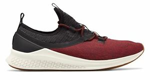 New Balance Men's Fresh Foam Lazr Sport Shoes Black with Red & Off White