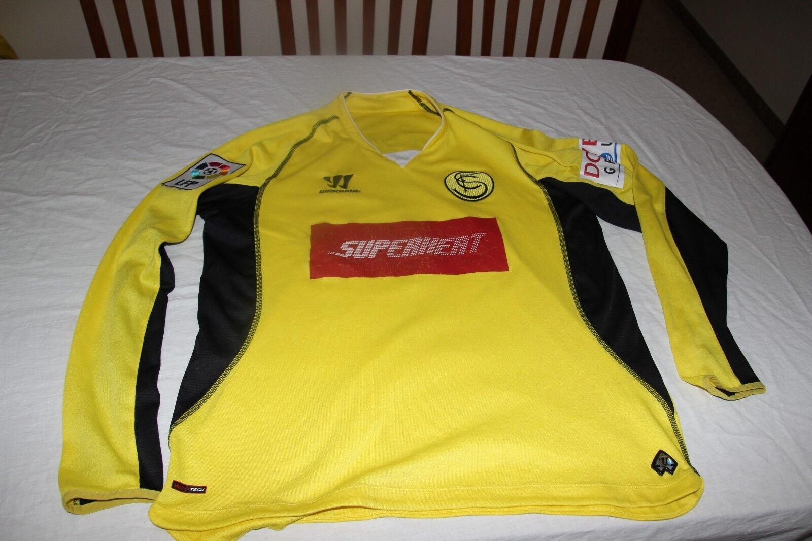 CAMISETA OFICIAL SEVILLA FC WARRIOR T L SUPERHERT MATCH WORN Nº 1 JAVI VARAS