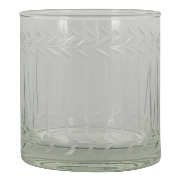 GreenGate Wasserglas Trinkglas /'Elouise/' white Blumen Landhaus Vintage Nostalgie