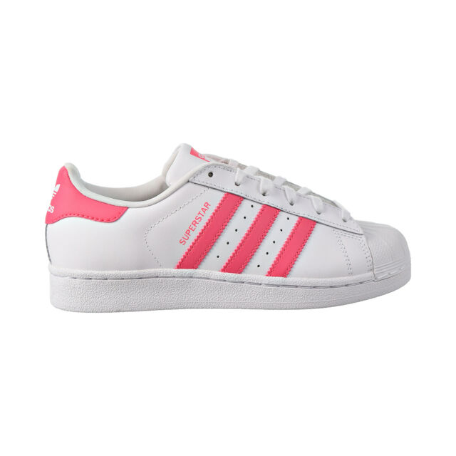 adidas Superstar Cg6608 SNEAKERS Big Girl's Size 6 White Pink