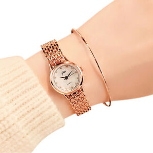 Mode-Frauen-Quarz-Analog-Armbanduhr-Luxus-Business-Edelstahl-Uhren