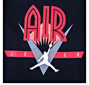NIKE-AIR-JORDAN-Men-039-ds-L-BLACK-RED-T-SHIRT-834480-010-AJ6569-010-Retro-jumpman