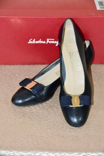 Salvatore Ferragamo Vera Bow Pumps Size 8.5 AAA