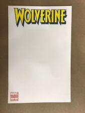 WOLVERINE #1 BLANK VARIANT 1ST PRINT MARVEL COMICS (2010) LOGAN