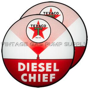 """G193 Texaco Diesel Chief 13.5/"""" Gas Pump Globe w// Steel Body"""