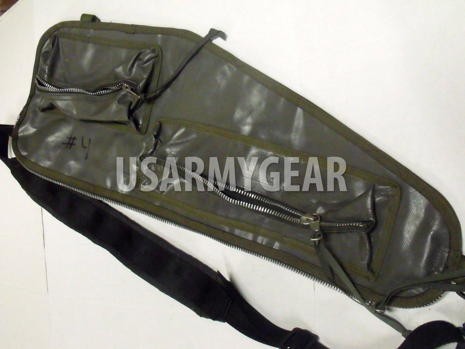 US Army Military Spare Barrel Rifle Carrying Case Range Bag OD Vietnam M60 GPMG