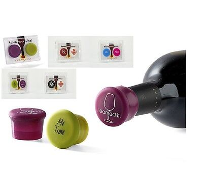 2 Capabunga Riutilizzabile Capsula Reseals Il Tuo Vino Bottiglia - Perfetto