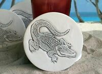 Clay Drink Coasters, Alligator Absorbent Drink Coasters Set Of 4