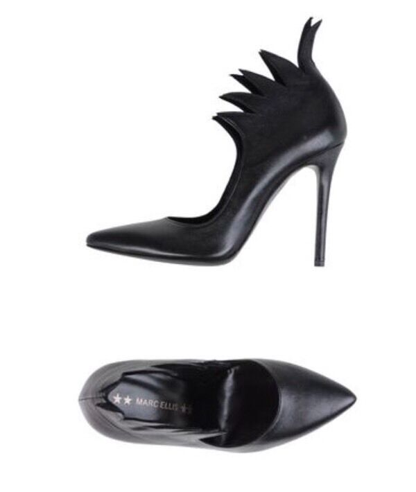 Marc Ellis Ellis Marc Black Heels Pumps Pointed Toe Size 5/35 448bfa