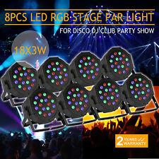 8 PCS ILLUMINAZIONE DA PALCO 6 CANALI LED PAR64 DMX SALE DA BALLO FASE LUCI CLUB