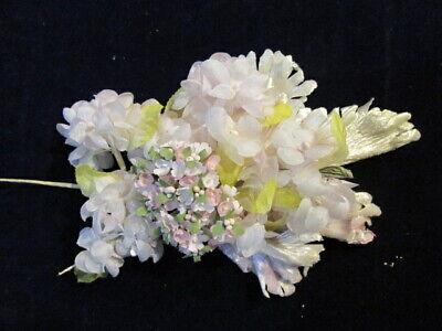 Vintage Millinery Blume Collection 1/4-1 Rosa / Vergissmeinnicht H2785 SorgfäLtige Berechnung Und Strikte Budgetierung