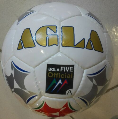Pallone Calcio a 5 AGLA Bola Five Official Bianco//Argento