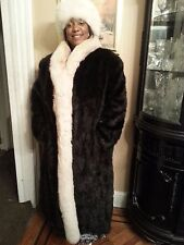 Women's Full Length Faux Fur Winter Coat.