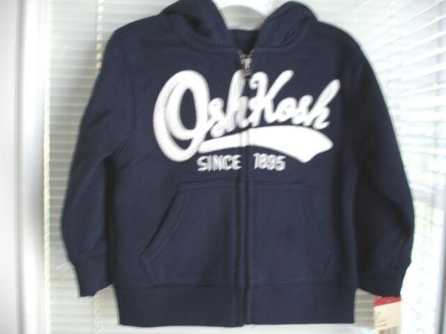 6c95978e1e Buy Oshkosh B gosh Toddler Boys Navy Blue Full Zip Hoodie 80 Cotton ...