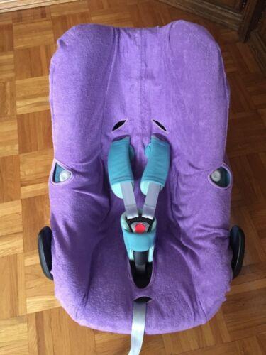 Sommerbezug Schonbezug Frottee für Maxi-cosi Pebble Pebble Plus NEU lila