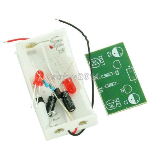 Triode Transistor Multivibrator LED Flash Light Electronic Circuit kits Training