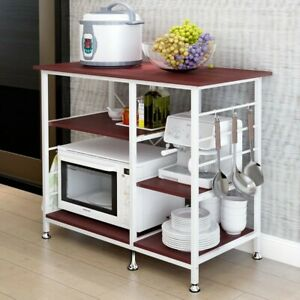 5-4-Tier-Kitchen-Baker-039-S-Rack-Utility-Microwave-Oven-Stand-Storage-Cart-Rack