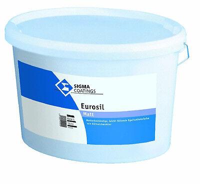 Sonstige Fassade Siliconharzmodifizierte Fassadenfarbe Brillant Sigma Eurosil Matt 12,5 Liter