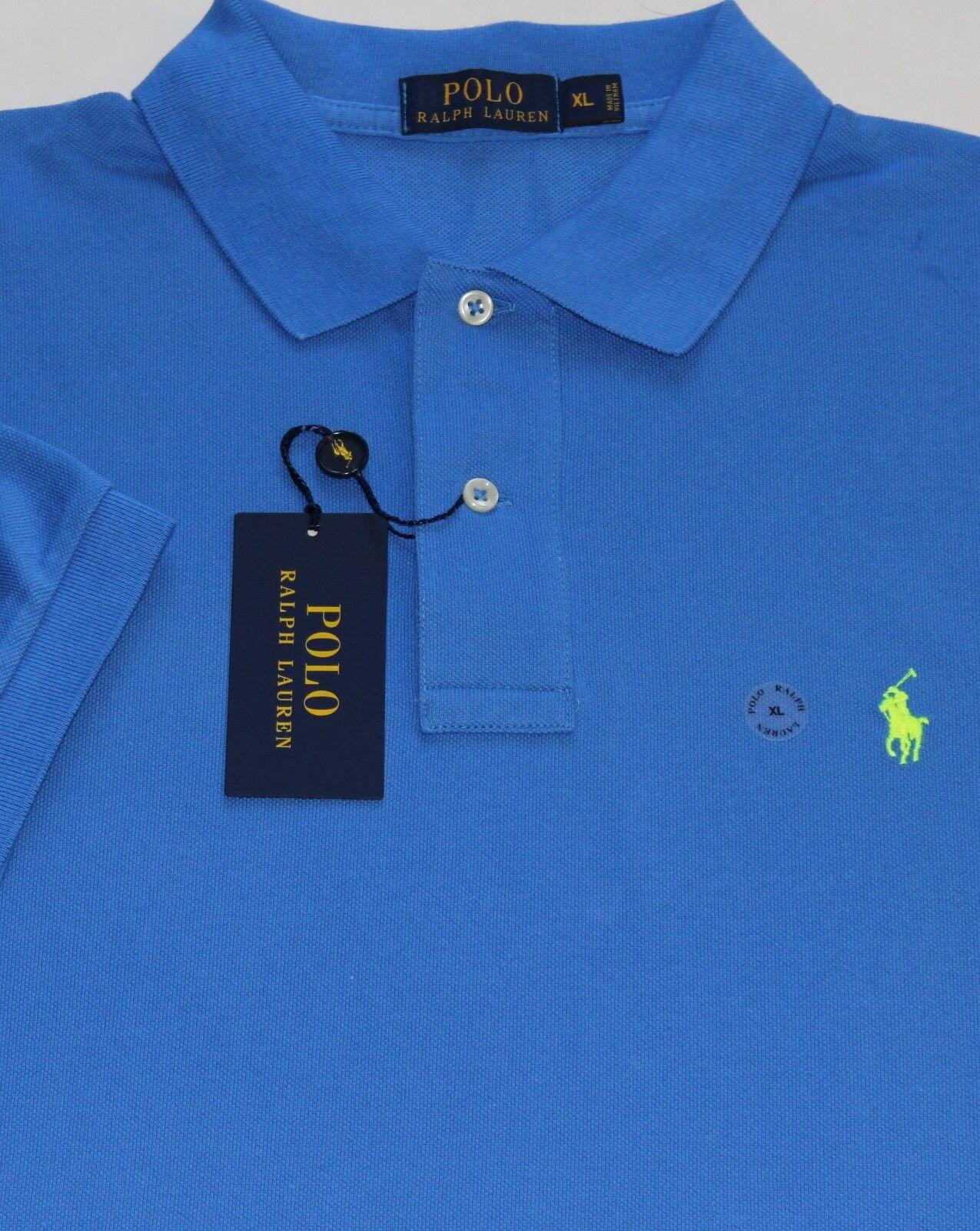 New  Polo Ralph Lauren Royal bluee Cotton Mesh Polo Shirt   BIG 3X