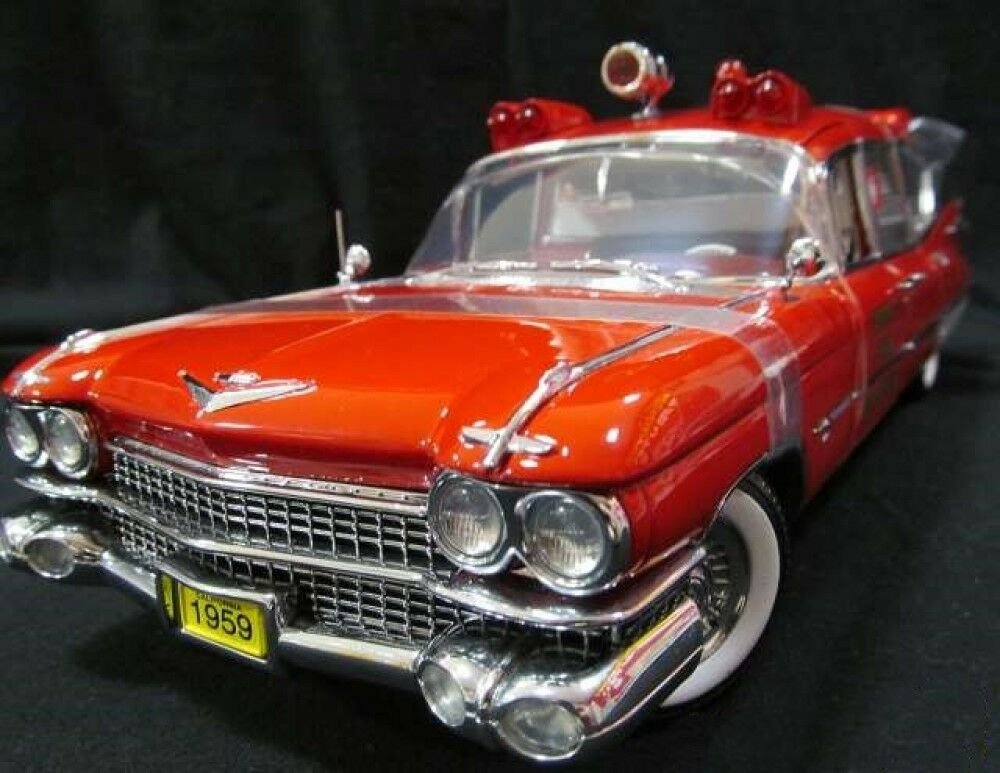 Precsion 1 18 1959 Cadillac Superior Crown Royale Detroit Fire Dept. Ambulance
