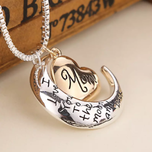 I-Love-You-To-The-Moon-amp-Back-Mom-Necklace-amp-Pendant-Mothers-Day-Bday-Best-Gifts
