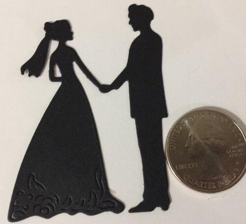 "Approx.1.75/""x 2-1//4/""Cake•Ceremony•Bride •Groom•Dance 6pc WEDDING COUPLE Die-Cut"