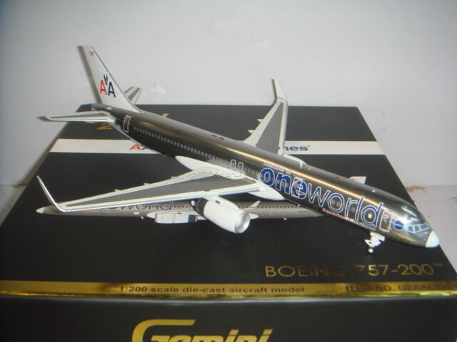 Gemini Jets 200 American Airlines AA B757-200WL  Oneworld color  1 200 DIECAST