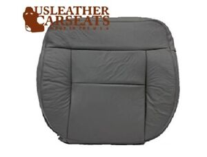 2004-Ford-F150-Lariat-Driver-Side-Bottom-Replacement-Leather-Seat-Cover-Gray