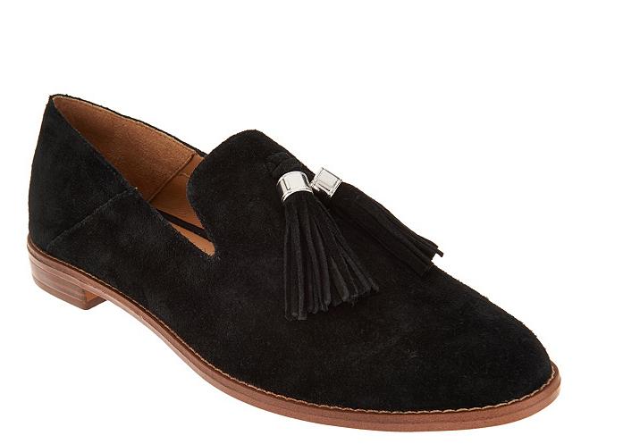 Franco Sarto Mocasines De De De Gamuza Con Borlas-Ed Negro Zapatos para mujer 5.5 Nuevo  servicio honesto