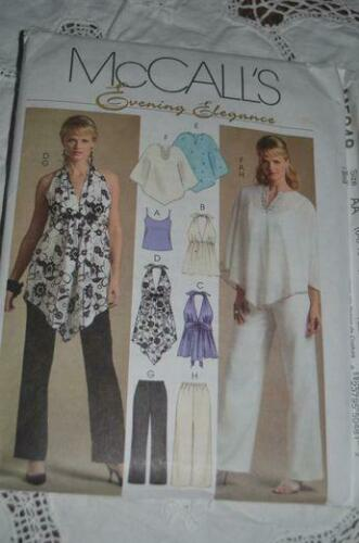 McCalls Sewing Pattern 5048 Misses Tops Pants Ponchos Size 14-20